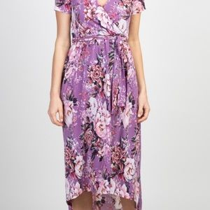 Pinkblush lavender floral maternity dress